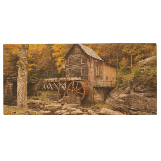 USA, West Virginia, Clifftop. Babcock State 2 Wood USB Flash Drive