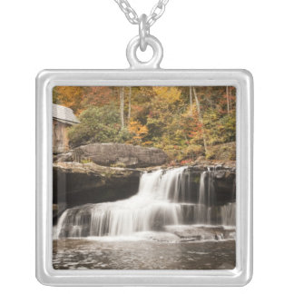 USA, West Virginia, Clifftop. Babcock State Silver Plated Necklace