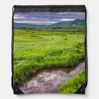 USA, West Virginia, Davis. Landscape 2 Drawstring Bag