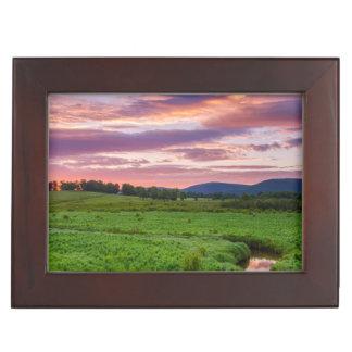USA, West Virginia, Davis. Landscape Keepsake Box