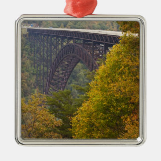 USA, West Virginia, Fayetteville. New River Christmas Ornament