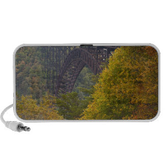 USA, West Virginia, Fayetteville. New River Portable Speakers