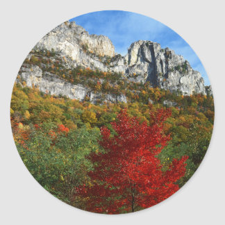 USA, West Virginia, Spruce Knob-Seneca Rocks Classic Round Sticker