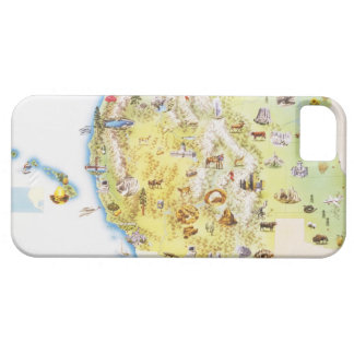 USA, western states of America, map Barely There iPhone 5 Case