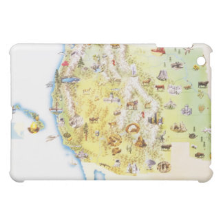 USA, western states of America, map Cover For The iPad Mini