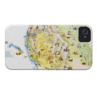 USA, western states of America, map iPhone 4 Cover