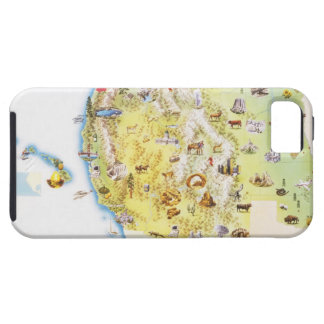 USA, western states of America, map iPhone 5 Cover