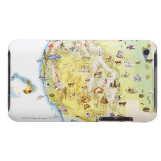 USA, western states of America, map iPod Touch Case