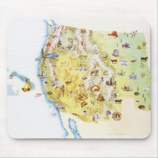 USA, western states of America, map Mouse Mat
