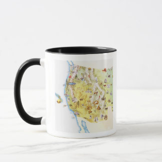 USA, western states of America, map Mug