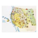 USA, western states of America, map Postcard