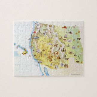 USA, western states of America, map Puzzles