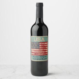 USA Wine Label