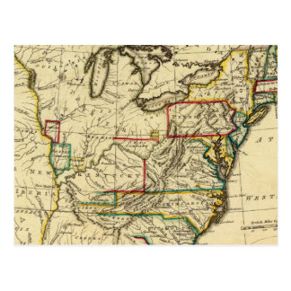 USA with boundaries outlined Postcard