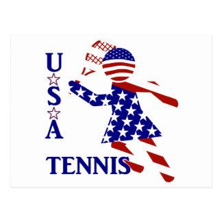 USA Women s Tennis Post Card