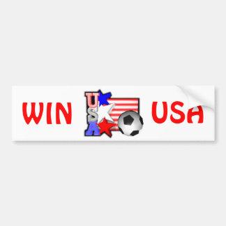 USA WOMEN SOCCER STARS make America shine Car Bumper Sticker