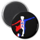 USA Women's Soccer Logo 6 Cm Round Magnet
