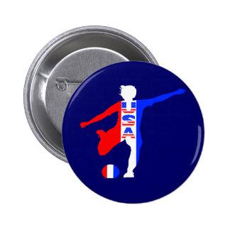 USA Women's Soccer Logo Buttons