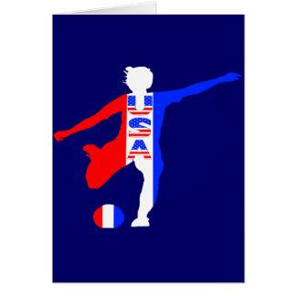 USA Women's Soccer Logo Greeting Card