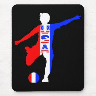 USA Women's Soccer Logo Mousepad