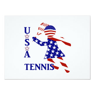 USA Women's Tennis 17 Cm X 22 Cm Invitation Card