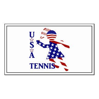 USA Women's Tennis Pack Of Standard Business Cards