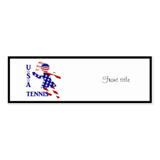 USA Women's Tennis Pack Of Skinny Business Cards