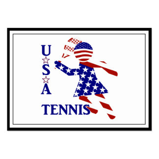 USA Women's Tennis Pack Of Chubby Business Cards