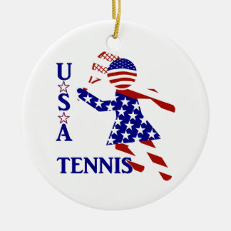 USA Women's Tennis Ornament