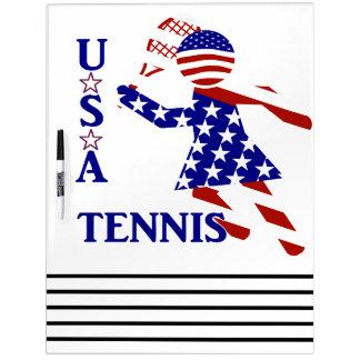 USA Women's Tennis Dry Erase Whiteboard