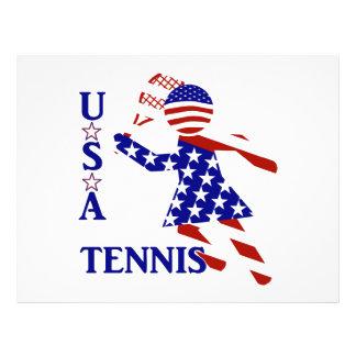 USA Women's Tennis Full Color Flyer