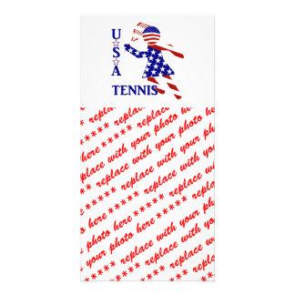 USA Women's Tennis Photo Greeting Card