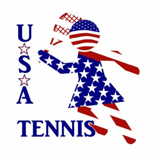 USA Women's Tennis Acrylic Cut Outs