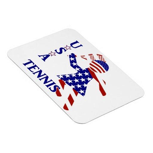 USA Women's Tennis Flexible Magnets