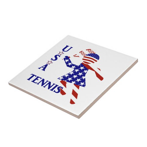 USA Women's Tennis Ceramic Tiles
