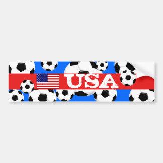 USA World Cup Bumper Sticker Foofball Car Bumper Sticker
