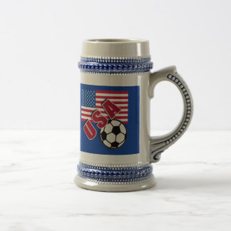 USA World Soccer Fan Tshirts Beer Stein