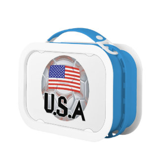 USA World Soccer Lunch Box