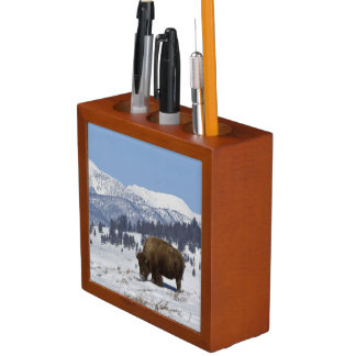 USA, WY, Yellowstone NP, American Bison Bison Desk Organiser