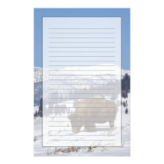 USA, WY, Yellowstone NP, American Bison Bison Stationery