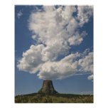 USA, Wyoming, Clouds over Devil's Tower 2 Poster