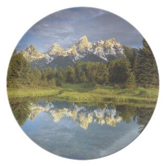 USA, Wyoming, Grand Teton National Park. Grand 2 Dinner Plates