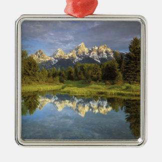 USA, Wyoming, Grand Teton National Park. Grand 2 Silver-Colored Square Decoration