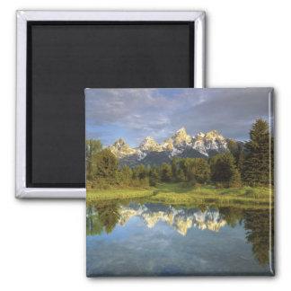 USA, Wyoming, Grand Teton National Park. Grand 2 Square Magnet