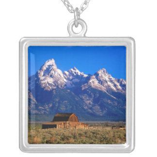 USA, Wyoming, Grand Teton National Park, Morning Silver Plated Necklace