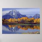 USA, Wyoming, Grand Teton National Park. Mt. Poster