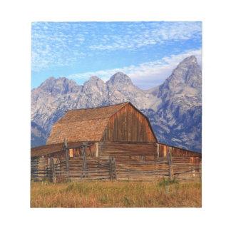 USA, Wyoming, Grand Teton National Park. Notepad