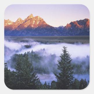 USA, Wyoming, Grand Teton National Park. The Square Sticker