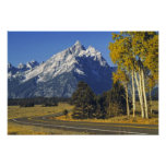 USA, Wyoming, Grand Teton NP. Teton Parkway Poster