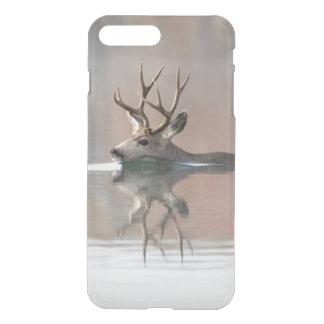 USA, Wyoming, Mule Deer buck swimming lake iPhone 8 Plus/7 Plus Case